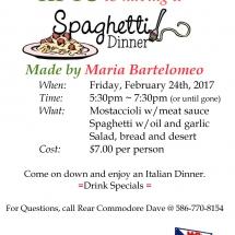 Italian Dinner Flyer Feb 24 2017