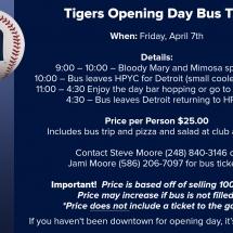 Tigers bus trip